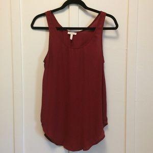 Leith sleeveless burgundy blouse